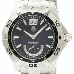 Tag Heuer Black Stainless Steel Aquaracer Grande Date WAF1010 Men's Wristwatch 41MM 229620