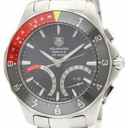 Tag Heuer Gray Stainless Steel Aquaracer Calibre CAF7112 Men's Wristwatch 42MM 229617