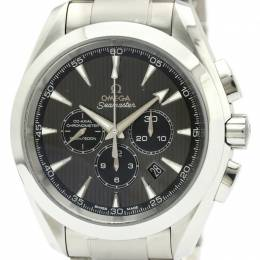 Omega Black Stainless Steel Seamaster Aqua Terra Co-Axial 231.10.44.50.06.001 Men's Wriswatch 44 MM 229667