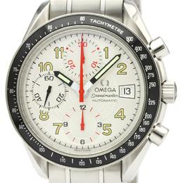 Omega White Stainless Steel Speedmaster Mark 40 Steel Automatic 3513.33 Men's Wriswatch 39 MM 229656