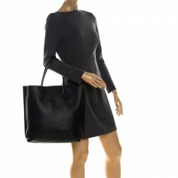 Mulberry Black Leather Blossom Shopper Tote 227401
