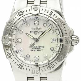Breitling MOP Diamond and Stainless Steel A71340 Women's Wristwatch 30MM 229599