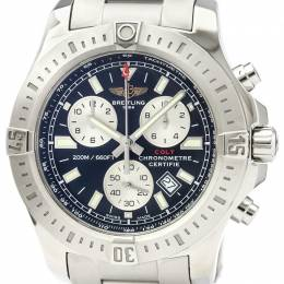Breitling Black Stainless Steel Colt Chronograph A73388 Men's Wristwatch 44MM 229569