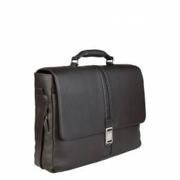 Piquadro Dark Brown Leather Briefcase 226127