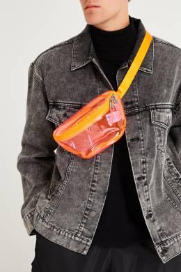 Розовая прозрачная сумка на пояс Eastpak 2760154640