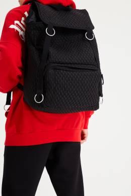 Черный стеганый рюкзак с клапаном Eastpak x Raf Simons 2760154612