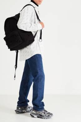 Черный рюкзак с металлическими кольцами Eastpak x Raf Simons 2760154618