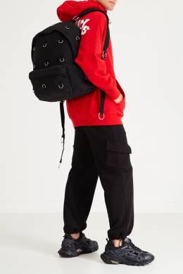 Черный стеганый рюкзак с кольцами Eastpak x Raf Simons 2760154645