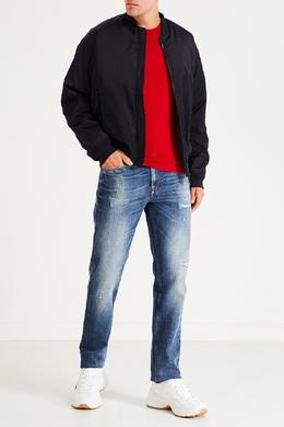 Красный джемпер с белой вставкой Bikkembergs 1487154971