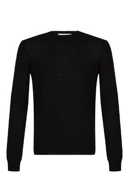 Черно-белый джемпер из полушерсти Bikkembergs 1487154969