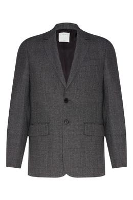Шерстяной пиджак серого цвета Sandro 914155298