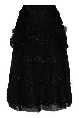 Черная юбка с блестящим узором Simone Rocha 250155115