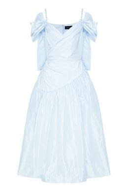 Светло-голубое платье на бретелях Simone Rocha 250155114