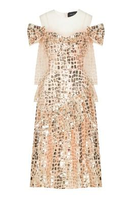 Сетчатое платье с пайетками Simone Rocha 250155117