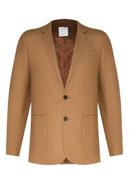 Светло-коричневый шерстяной пиджак Sandro 914155303
