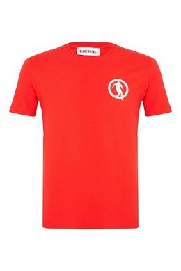 Красная футболка с небольшой эмблемой Bikkembergs 1487154943