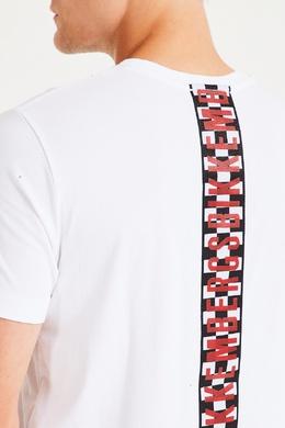 Белая футболка с круглым вырезом Bikkembergs 1487154944