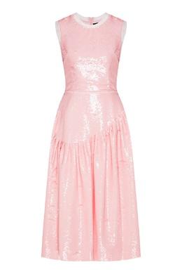 Розовое платье миди с пайетками Simone Rocha 250155127
