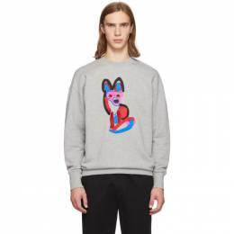 Maison Kitsune Grey Acide Fox Sweatshirt 192389M20400601GB