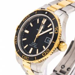 Tag Heuer Black Two-Tone Stainless Steel Aquaracer WAK2122 Men's Wristwatch 41 mm 224504