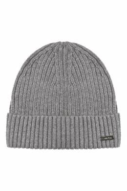 Серая шапка бини с логотипом Calvin Klein 596155828