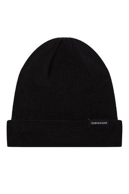 Однотонная черная шапка из хлопка Calvin Klein 596155844