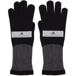 Adidas by Stella McCartney Black Running Gloves 192755F01200103GB