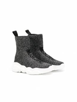 Moschino Kids logo sock sneakers 61823