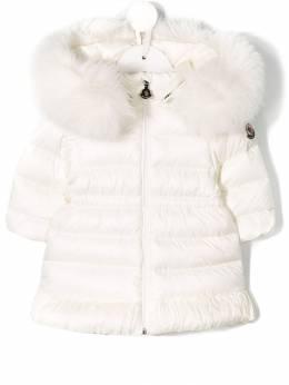 Moncler Kids - hooded fur coat 66055365895553693000