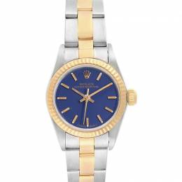 Rolex Blue 18K Yellow Gold And Stainless Steel Oyster Perpetual 67193 Women's Wristwatch 24 MM 231126
