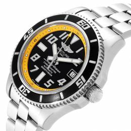 Breitling Black/Yellow Stainless Steel Superocean Automatic Chronometer A17364 Men's Wristwatch 42 MM 231151
