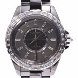 Chanel Gray Ceramic and Titanium J12 H2913 Chromatic Men's Wristwatch 38MM 227929