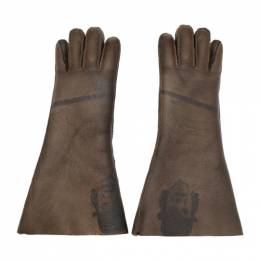 Undercover Brown Shearling A Clockwork Orange Alex Gloves 192414M13500301GB