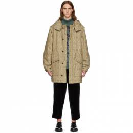 Undercover Beige Valentino Edition Base Printed Parka 192414M17601701GB