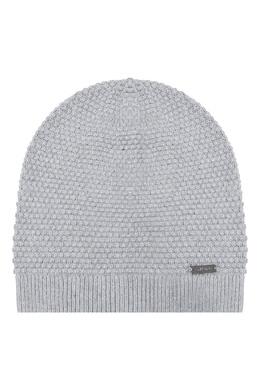 Серая шапка с мелким узором Calvin Klein 596156453
