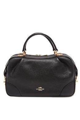 Черная кожаная сумка The Lane Coach 2219156033