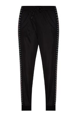Черные брюки с цветными лампасами Bikkembergs 1487156464
