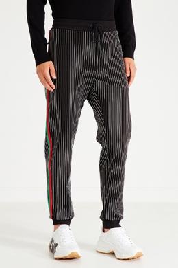 Спортивные брюки в полоску Bikkembergs 1487156463