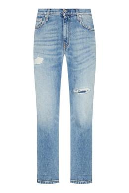 Голубые джинсы с прорезями Calvin Klein 596156233