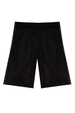 Спортивные бермуды черного цвета Bikkembergs 1487156471