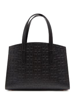 Черная сумка Charlie из тисненой кожи Signature Coach 2219155974