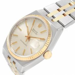 Rolex Silver 18K Yellow Gold and Stainless Steel Oysterquartz Datejust 17013 Men's Wristwatch 36MM 231359