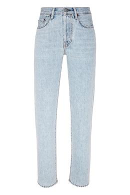 Голубые джинсы с потертостями Acne Studios 876125509