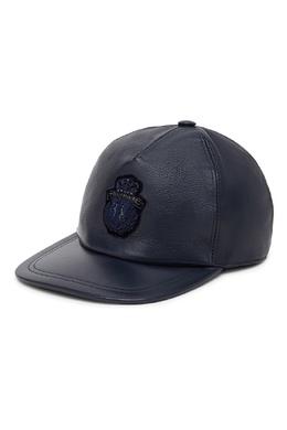 Темно-синяя кожаная кепка Billionaire 1668156227