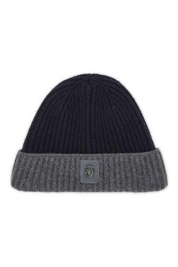 Серо-синяя шапка с серебристой вышивкой Billionaire 1668156229