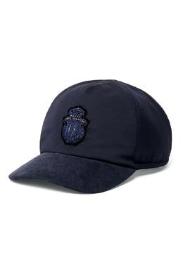 Темно-синяя бейсболка с декором Billionaire 1668156167