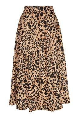 Коричневая юбка с леопардовым принтом Zimmermann 1411156352