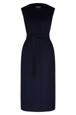 Удлиненный темно-синий жилет без декора Max Mara 1947156374
