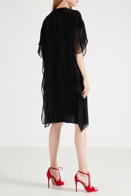 Черное мини-платье с оборками Max Mara 1947156377