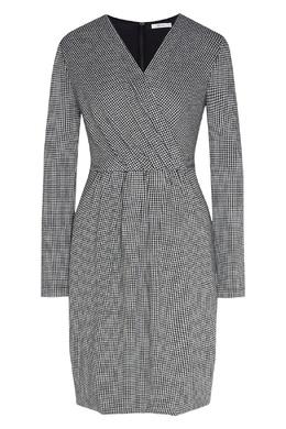 Приталенное серое платье в клетку Max Mara 1947156375